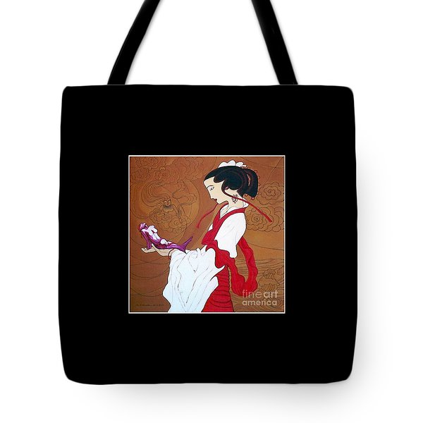 Meditation Tote Bag by Fei A