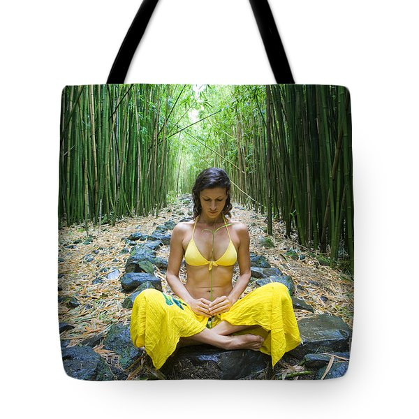 Meditation In Bamboo Forest Tote Bag by M Swiet Productions