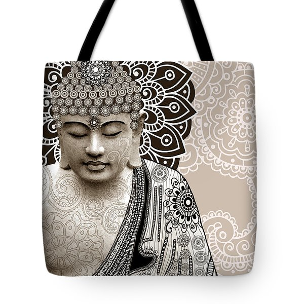 Meditation Mehndi - Paisley Buddha Artwork - Copyrighted Tote Bag