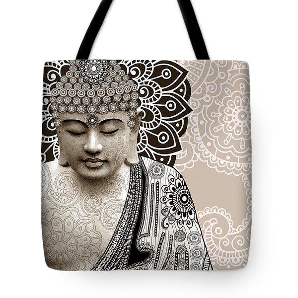 Meditation Mehndi - Paisley Buddha Artwork - Copyrighted Tote Bag