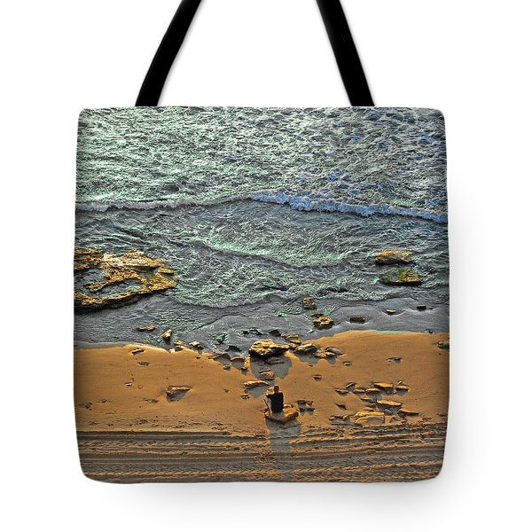 Meditation Tote Bag by Ron Shoshani