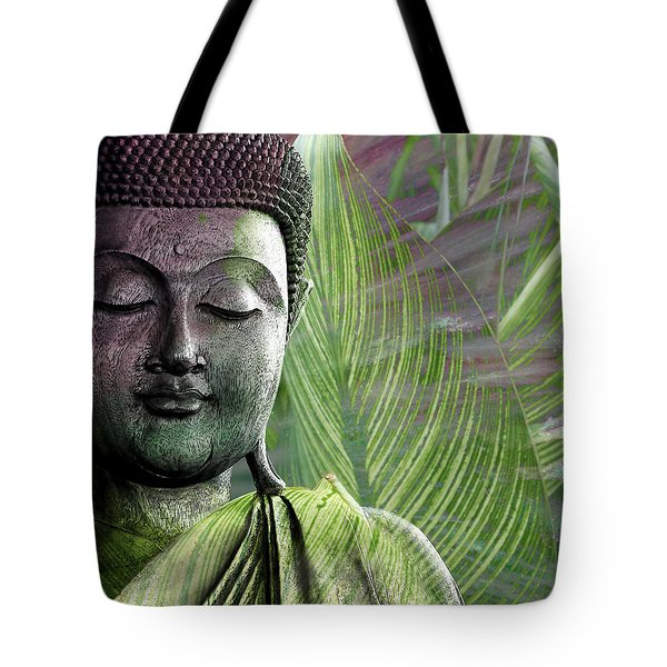 Tote Bag featuring the mixed media Meditation Vegetation by Christopher Beikmann