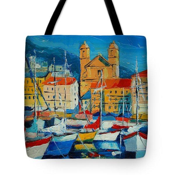 Mediterranean Harbor Tote Bag