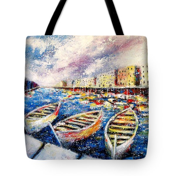Mediterranean Port Colours Tote Bag