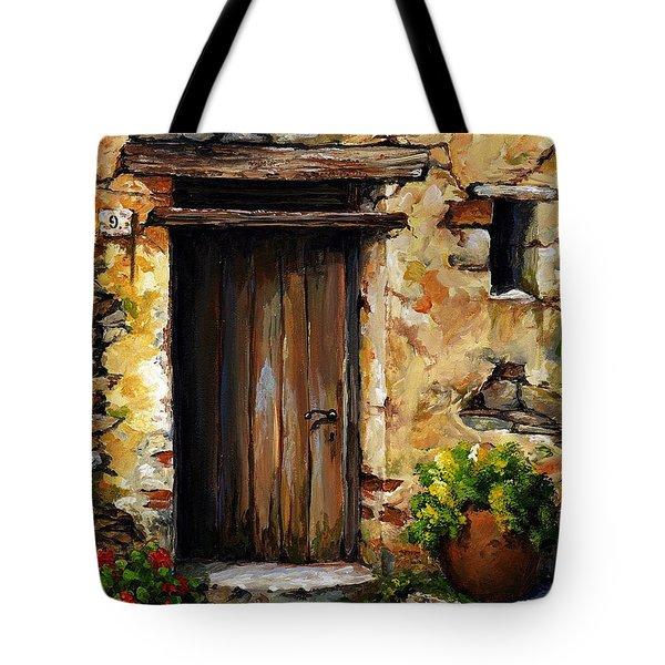 Mediterranean Portal Tote Bag