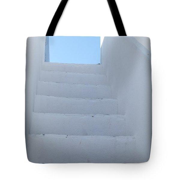 Mediterranean Staircase Tote Bag