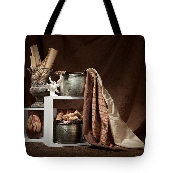 Medley Of Textures Still Life Tote Bag by Tom Mc Nemar