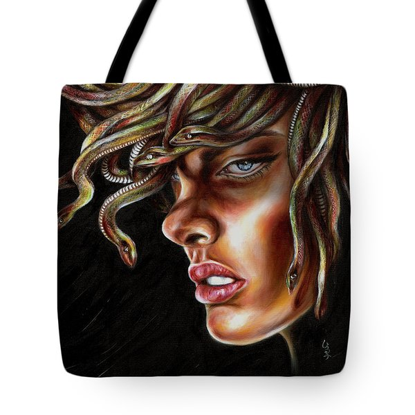 Tote Bag featuring the painting Medusa No. One by Hiroko Sakai