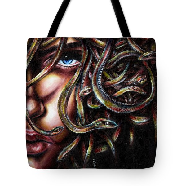 Tote Bag featuring the painting Medusa No. Two by Hiroko Sakai