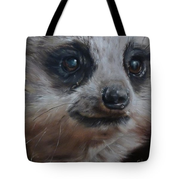 Tote Bag featuring the painting Meerkat by Cherise Foster