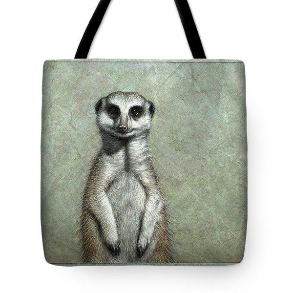 Meerkat Tote Bag by James W Johnson