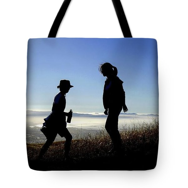 Tote Bag featuring the photograph Meet At The Top Of The World by Peter Thoeny