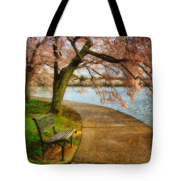 Meet Me At Our Bench Tote Bag