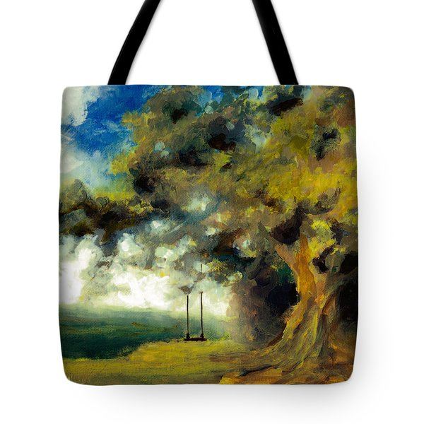 Meet Me At Our Swing Tote Bag
