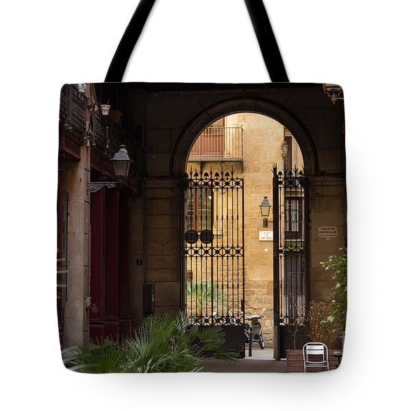 Meet Me For Coffee In The Courtyard Tote Bag by Rene Triay Photography