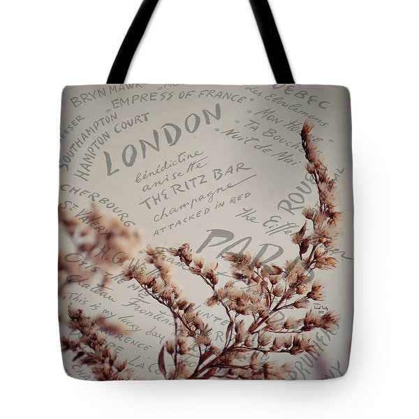 Meet Me In Paris Tote Bag