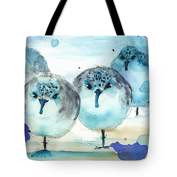 Meet The Sanderlings Tote Bag by Dawn Derman