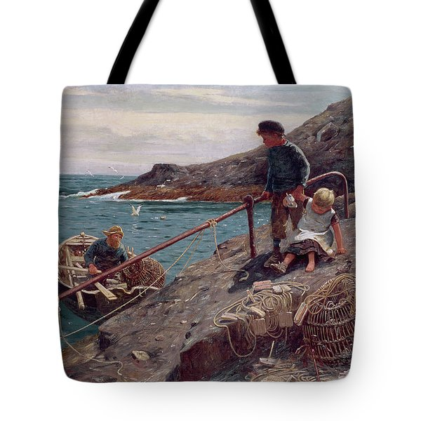 Meeting Father Tote Bag by Thomas James Lloyd