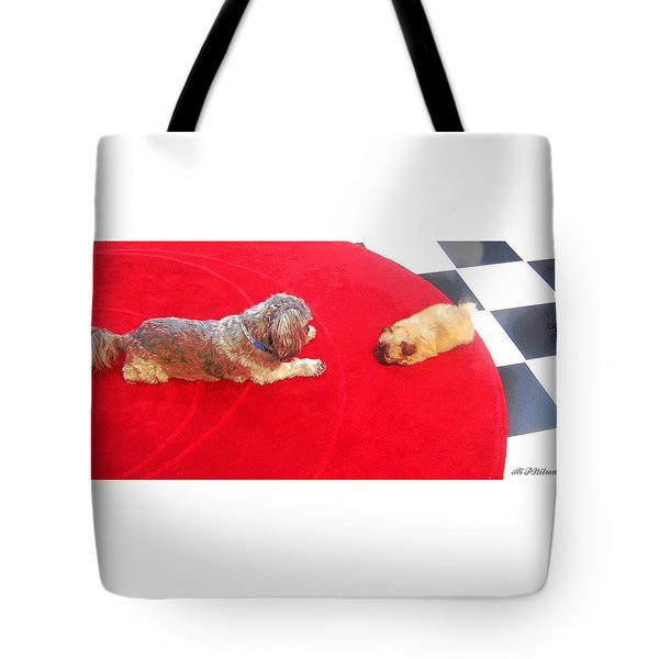 Dog And Puppy Pet Photography Lhasa Apso Shih Tzu Pomeranian   Tote Bag