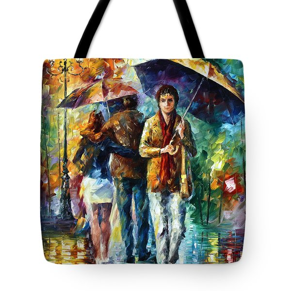 Meeting My Ex Tote Bag by Leonid Afremov