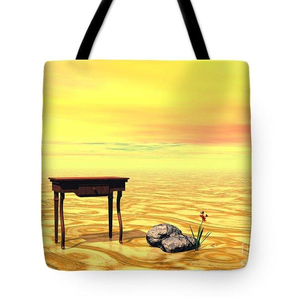 Meeting On Plain - Surrealism Tote Bag