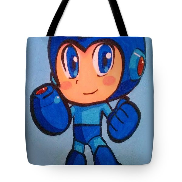 Mega Man Tote Bag by Marisela Mungia