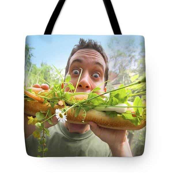 Mega Mouthful   Tote Bag by Richard Piper