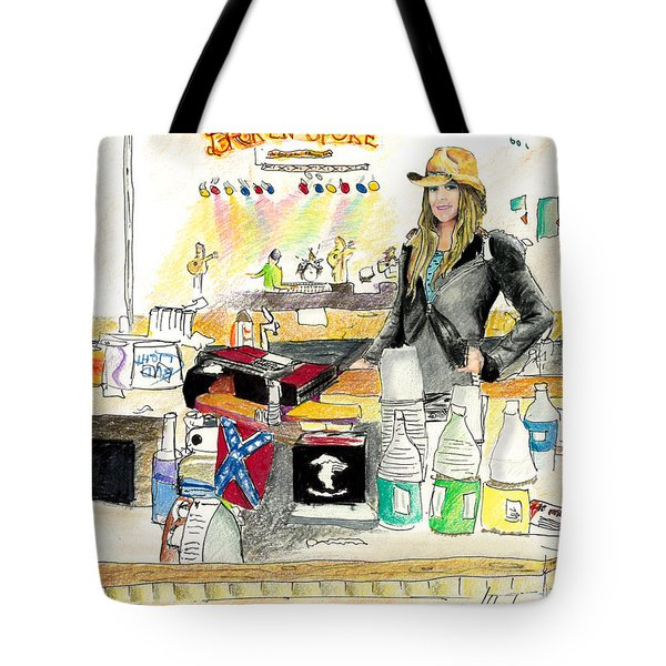 Meghan At The Broken Spoke Saloon Tote Bag