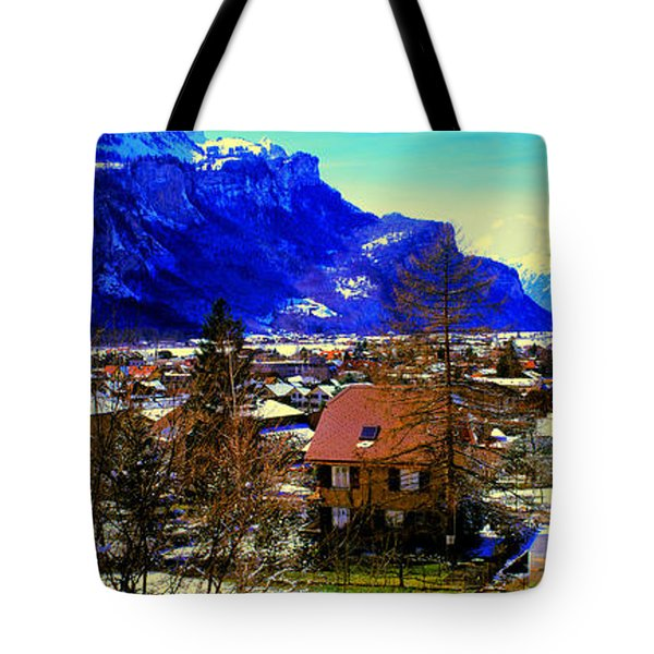 Meiringen Switzerland Alpine Village Tote Bag