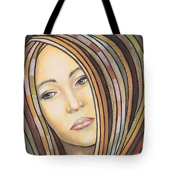 Tote Bag featuring the painting Melancholy 300308 by Sylvia Kula
