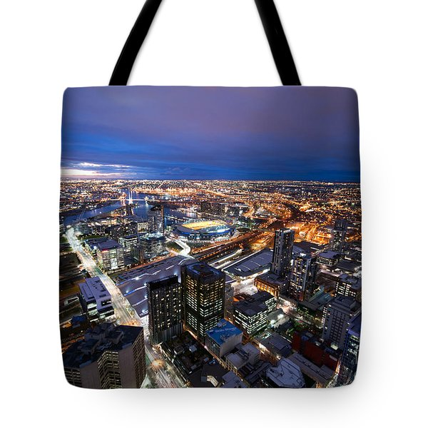 Melbourne At Night Tote Bag