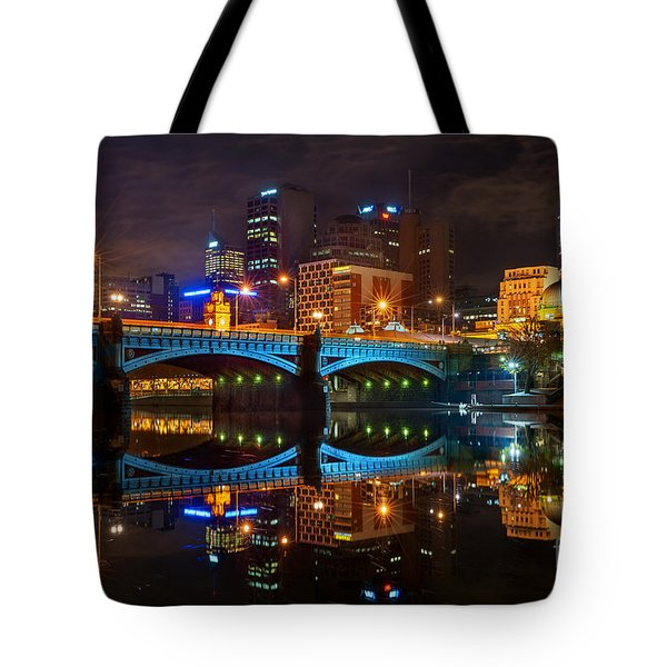 Tote Bag featuring the photograph Reflective City by Ray Warren