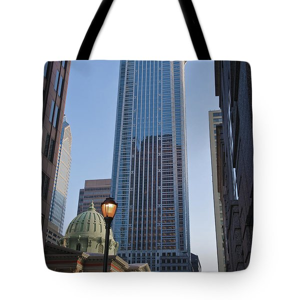 Mellon Bank Center Penn Center Market West Skyscrapers Phila Pa Tote Bag by David Zanzinger