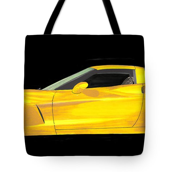Mellow Yellow Corvette C 6 Tote Bag