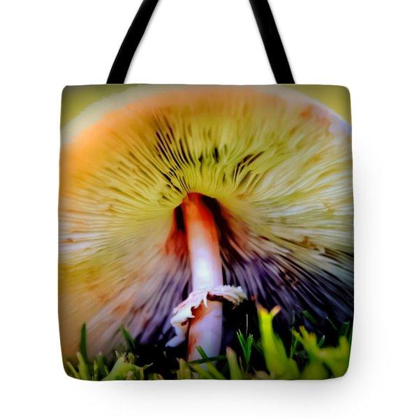 Mellow Yellow Mushroom Tote Bag by Karen Wiles