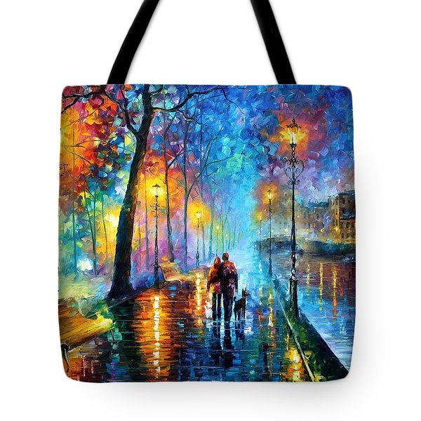 Melody Of The Night - Palette Knife Landscape Oil Painting On Canvas By Leonid Afremov Tote Bag