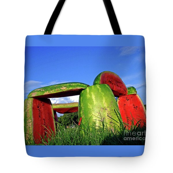 Melonhenge Tote Bag by Joe Jake Pratt