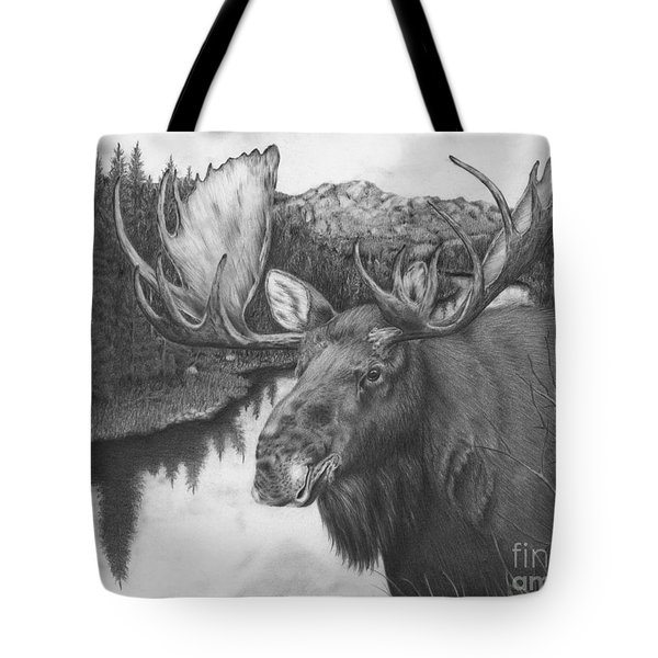 Melozi River Moose Tote Bag