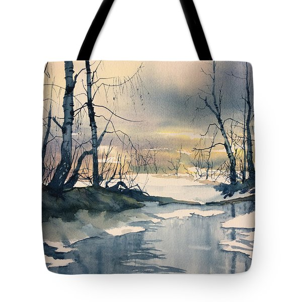 Melt Water On Skipwith Common Tote Bag