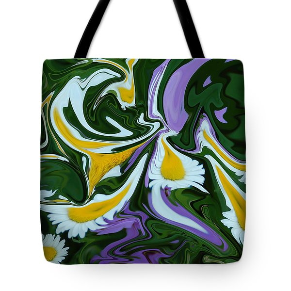 Melting Daisies Tote Bag by Aimee L Maher Photography and Art Visit ALMGallerydotcom