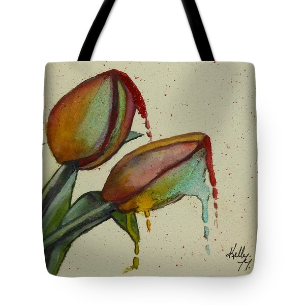 Melting Tulips Tote Bag by Kelly Mills