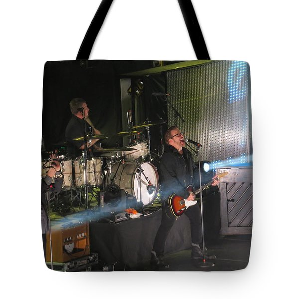 Tote Bag featuring the photograph Members  Of Newsong by Aaron Martens
