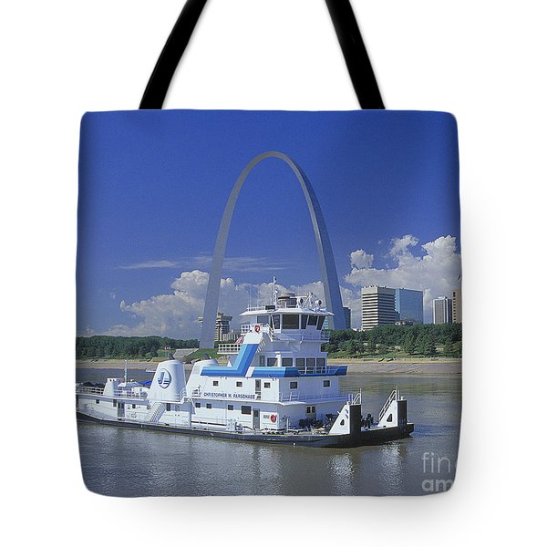 Memco Towboat In St Louis Tote Bag