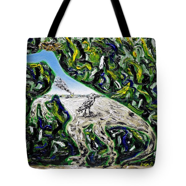 Tote Bag featuring the painting Memetic Process by Ryan Demaree