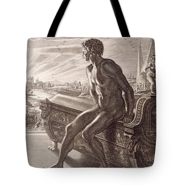 Memnon's Statue Tote Bag by Bernard Picart