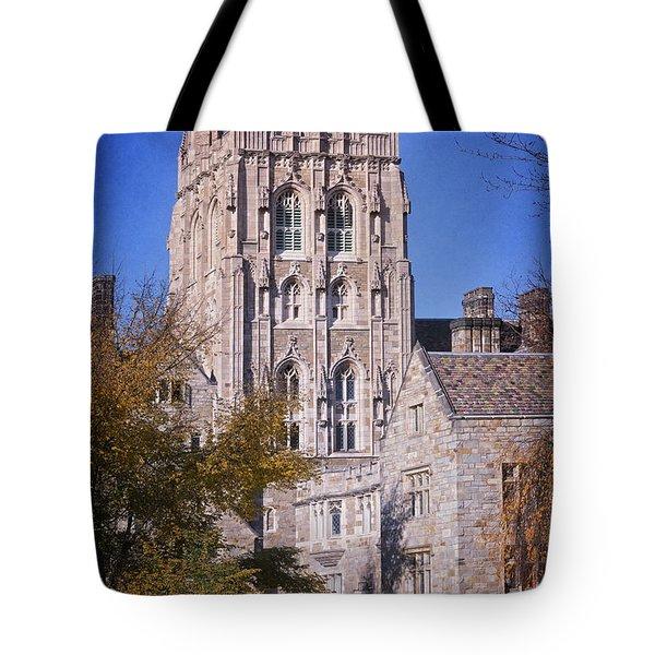 Memorial Quadrangle Yale University Tote Bag