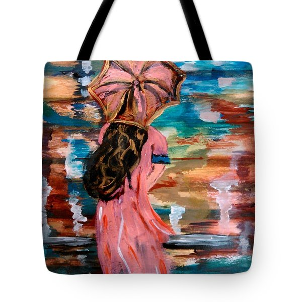Tote Bag featuring the painting Memories by Lori  Lovetere