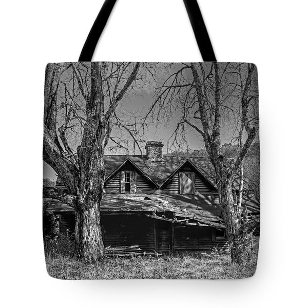Memories Of Ages Past B W Tote Bag by HH Photography of Florida