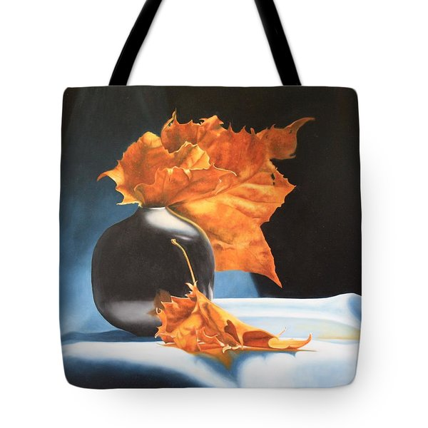 Memories Of Fall - Oil Painting Tote Bag