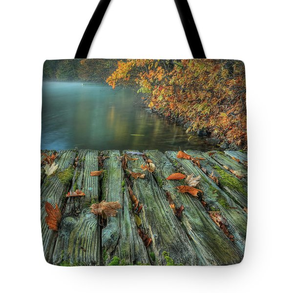 Memories Of The Lake Tote Bag by Jaki Miller
